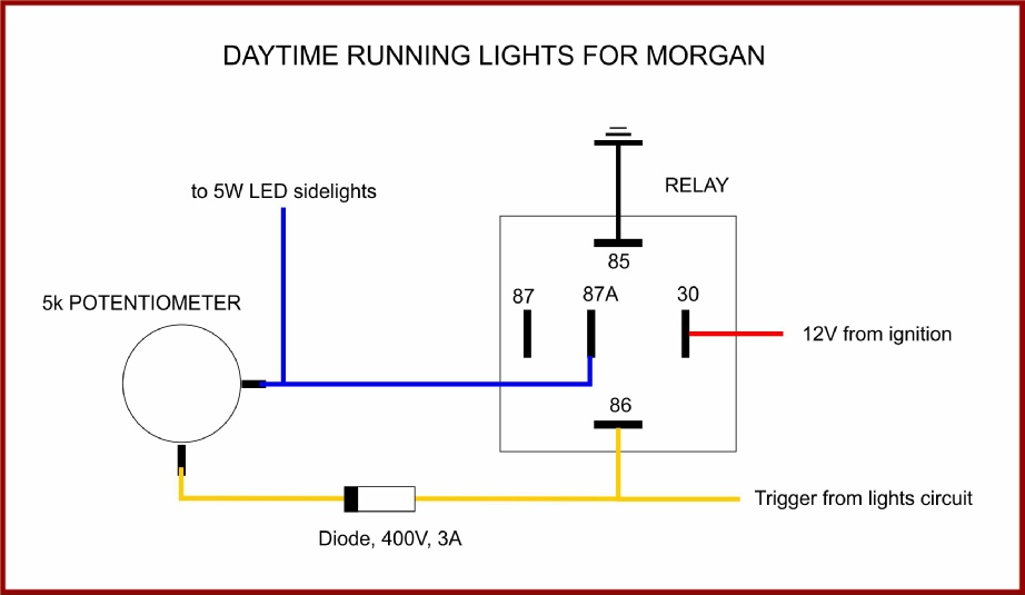 diagram of running light daytime running lights switch circuit diagram of a light switch